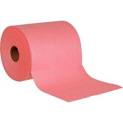 Global Industrial™ Quick Rags® Heavy Duty Jumbo Roll, Red, 475 Sheets/Roll, 1 Roll/Case