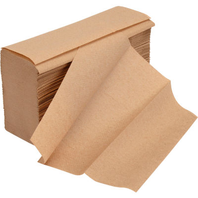 Global Industrial™ Multifold Paper Towels, Natural - 250 Sheets/Pack, 16 Packs/Case
