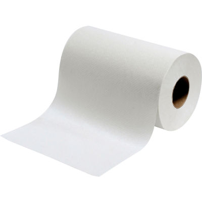 Global Industrial™ Roll Paper Towels, White - 350'/Roll, 12 Rolls/Case
