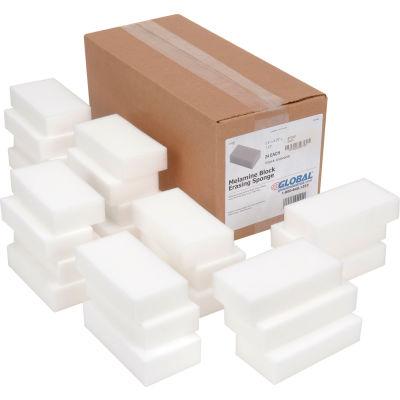 "Global Industrial™ Awesome Erasing Sponge, White, 2.5"" x 4.75"" - Case of 24 Sponges"