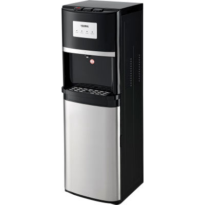 Global Industrial® Tri-Temp Non-Filtered Water Dispenser, Black With Stainless