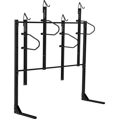 Global Industrial™ Indoor Vertical Bike Rack, Lockable, 4 Bike Capacity, Black