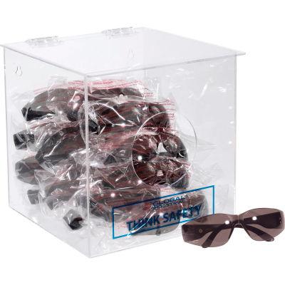 "Global Industrial™ Acrylic Safety PPE Dispenser, 10"" x 10"" x 10"", GLADB"