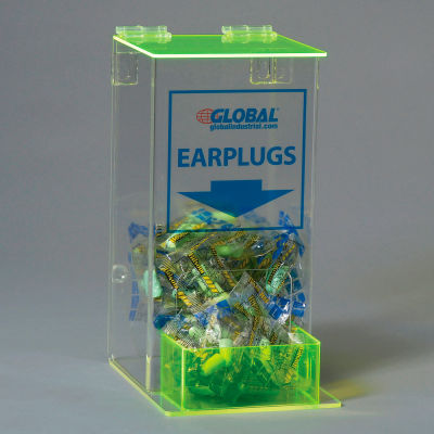 Global Industrial™ Acrylic Safety PPE Dispenser, Ear Plugs, Small, GLAEP-4