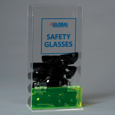 Global Industrial™ Acrylic Safety PPE Dispenser, Visitor Specs Deluxe