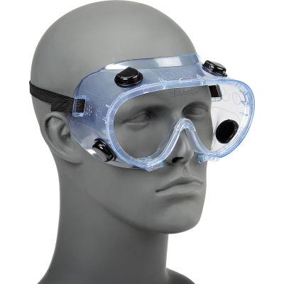 ERB™ 15145 Chemical Splash Resistant Goggles - Standard, Clear Lens, Black Straps