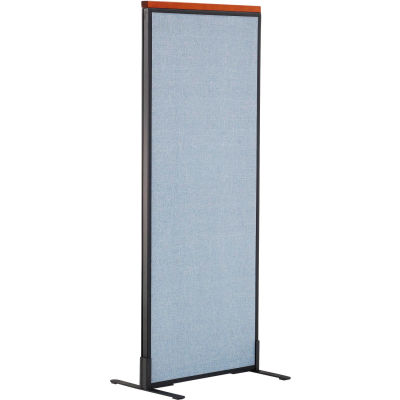 """Interion® Deluxe Freestanding Office Partition Panel, 24-1/4""""W x 61-1/2""""H, Blue"""