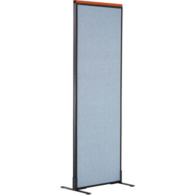 """Interion® Deluxe Freestanding Office Partition Panel, 24-1/4""""W x 73-1/2""""H, Blue"""