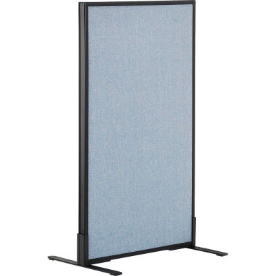 "Interion® Freestanding Office Partition Panel, 24-1/4""W x 42""H, Blue"