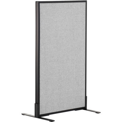 """Interion® Freestanding Office Partition Panel, 24-1/4""""W x 42""""H, Gray"""