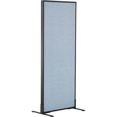 """Interion® Freestanding Office Partition Panel, 24-1/4""""W x 60""""H, Blue"""