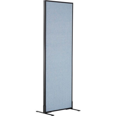 "Interion® Freestanding Office Partition Panel, 24-1/4""W x 72""H, Blue"