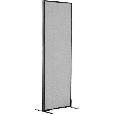 "Interion® Freestanding Office Partition Panel, 24-1/4""W x 72""H, Gray"