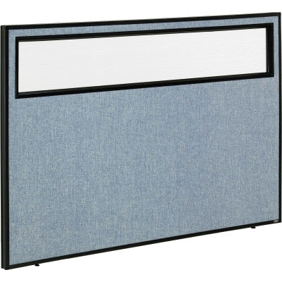 "Interion® Office Partition Panel with Partial Window, 60-1/4""W x 42""H, Blue"