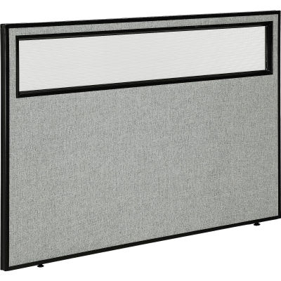 "Interion® Office Partition Panel with Partial Window, 60-1/4""W x 42""H, Gray"