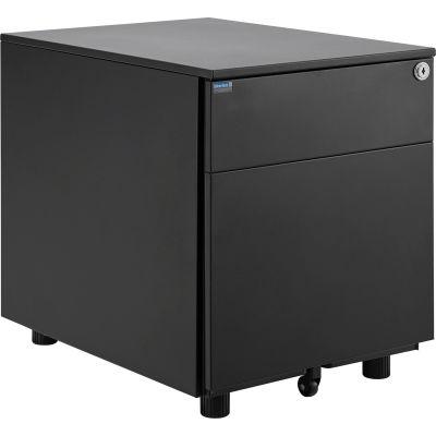 Interion® 2 Drawer Low File Cabinet - Black