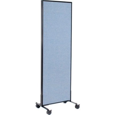 "Interion® Mobile Office Partition Panel, 24-1/4""W x 75""H, Blue"