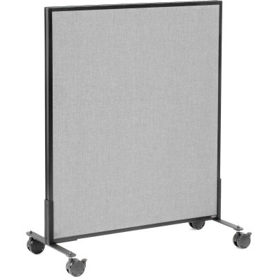 """Interion® Mobile Office Partition Panel, 36-1/4""""W x 45""""H, Gray"""