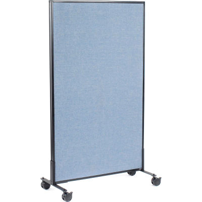 """Interion® Mobile Office Partition Panel, 36-1/4""""W x 63""""H, Blue"""