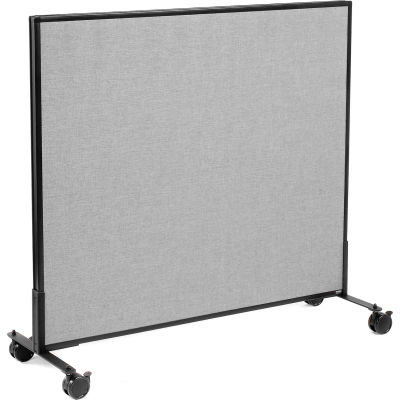 """Interion® Mobile Office Partition Panel, 48-1/4""""W x 45""""H, Gray"""