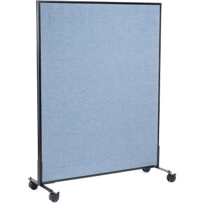 "Interion® Mobile Office Partition Panel, 48-1/4""W x 63""H, Blue"