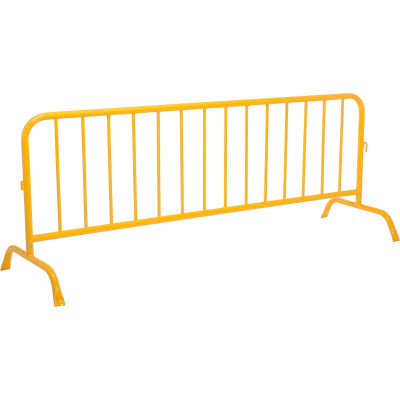 """Global Industrial™ Steel Crowd Control Barrier 102""""L x 40""""H x 1-5/8"""" D, Yellow"""