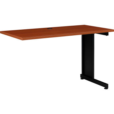 """Interion® 48""""W Right Handed Return Table, Cherry"""
