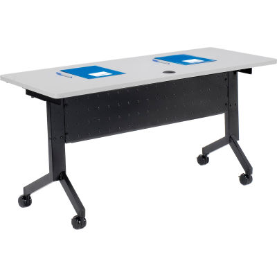 """Interion® Training Table - Flip-Top 60"""" x 24"""" - Gray"""
