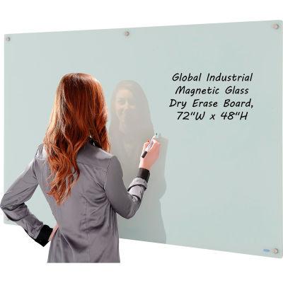 Magnetic Glass Whiteboard - 72 x 48 - White