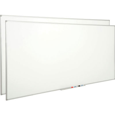 Global Industrial™ Melamine Dry Erase Whiteboard - 4' x 8' - Double Sided - Pack of 2