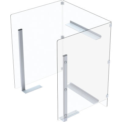 Global Industrial™ Clear Plastic Protective Shield For Mobile Computer PC Cart 695436