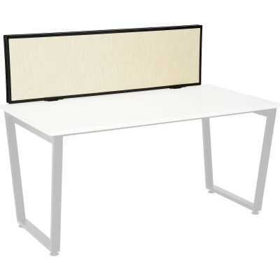 Interion® Universal Clamp-On Desk Partition - Fabric