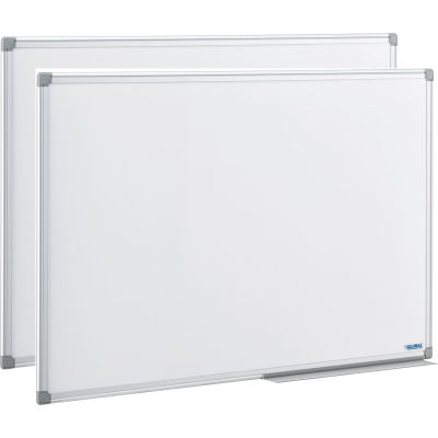 Global Industrial™ Melamine Dry Erase Whiteboard - 36 x 24 - Double Sided - Pack of 2
