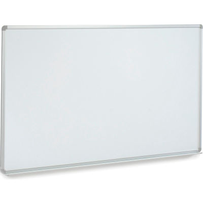 Global Industrial™ Porcelain Dry Erase Whiteboard - 72 x 48 - Aluminum