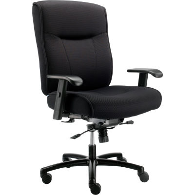 Interion® Big and Tall Office Chair with Arms - Fabric - Center Tilt