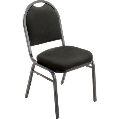 "Interion® Banquet Chair - Fabric - 2"" Seat - Black - Pkg Qty 4"