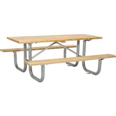 """Global Industrial™ 72"""" Wood Picnic Table"""