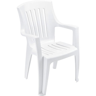 Interion® Outdoor Resin Stacking Chair - White - Pkg Qty 4