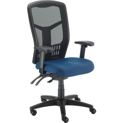 Interion® Mesh Task Chair - Fabric - High Back - Navy