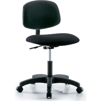 Interion® ESD Chair With Mid Back, Fabric, Black
