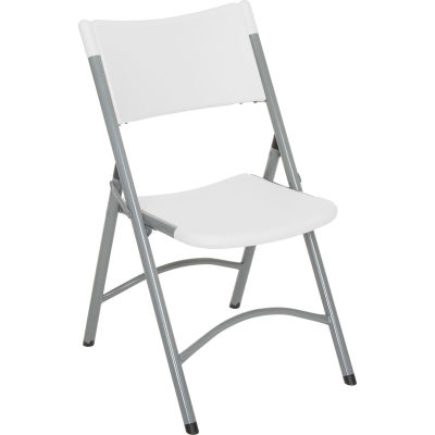 Interion® Folding Chair - Blow Molded Resin - White - Pkg Qty 4