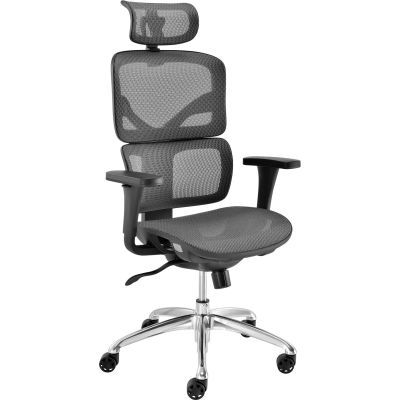 Interion® All Mesh Premium Chair, Gray