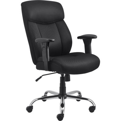 Interion® Fabric Mesh Big and Tall Chair - Black