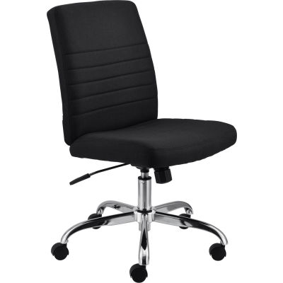 Interion® Armless Task Chair - Fabric - Black