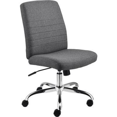 Interion® Armless Task Chair - Fabric - Gray