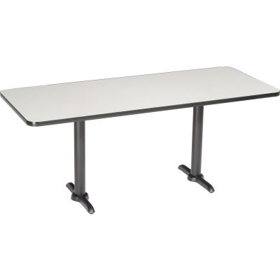 "Interion® Restaurant & Lunchroom Table, 72""Lx30""Wx29""H, Gray"