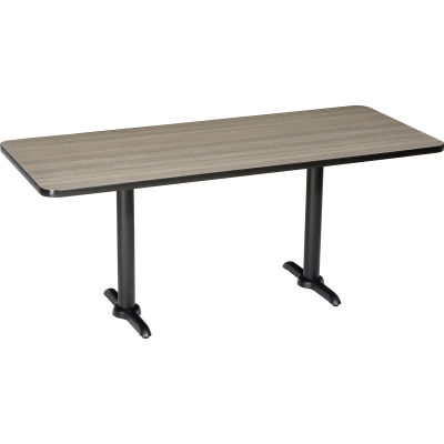 """Interion® Restaurant & Lunchroom Table, 72""""Lx30""""Wx29""""H, Charcoal"""
