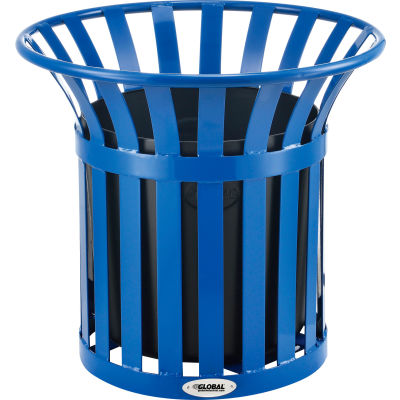 Global Industrial™ Steel Slat Planter - Blue