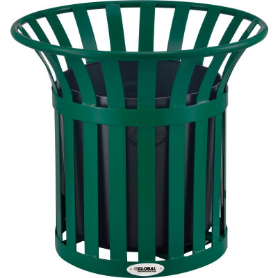 Global Industrial™ Steel Slat Planter - Green