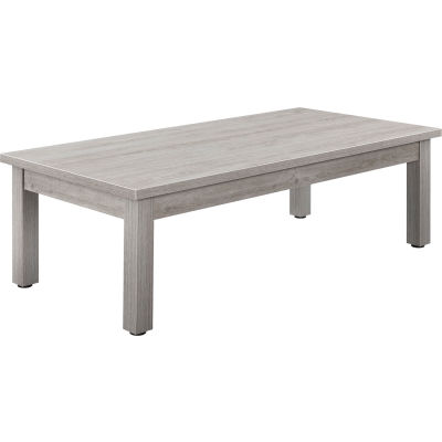 "Interion® Wood Coffee Table - 48"" x 24"" - Gray"